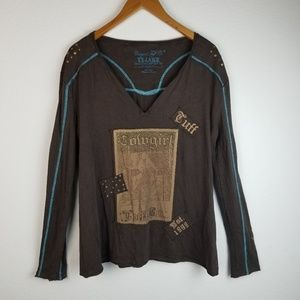 Cowgirl Tuff Long Sleeve Top Sz XXL